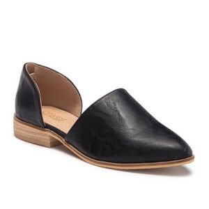 Black slip on loafers
